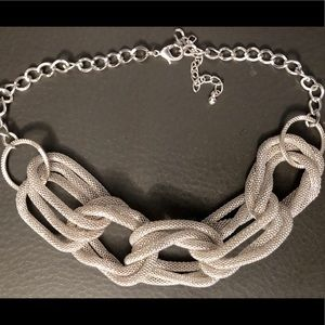 Silver Choker Necklace NWOT